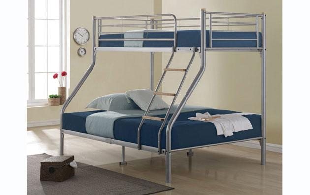 BIRLEA Nexus Silver Triple Sleeper Bunk Bed £199